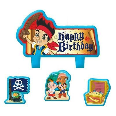 Jake and the Neverland Pirates Birthday Party 4 pc Candle Set Cake