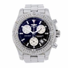 gent's Breitling Aeromarine Colt chronograph bracelet watch. with breitling box