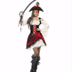 Ladies fancy dress pirate costume