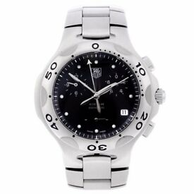 TAG HEUER Gents Kirium Chronograph Black Dial Steel Case CL1110-0 Quartz with box
