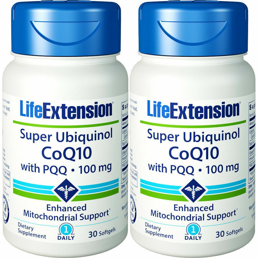 Life Extension Super Ubiquinol CoQ10 with PQQ, 30 Softgels.