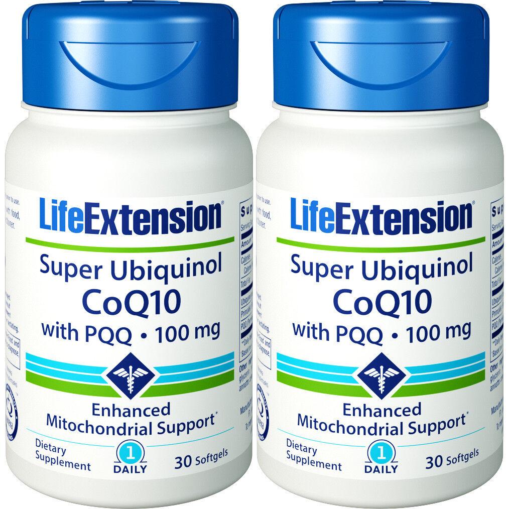Life Extension Super Ubiquinol CoQ10 with PQQ, 100mg, 30 Sof