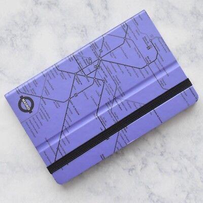 Mazzuoli Stifflexible Italy Madrid Underground Lavender Purple Pocket Notepad