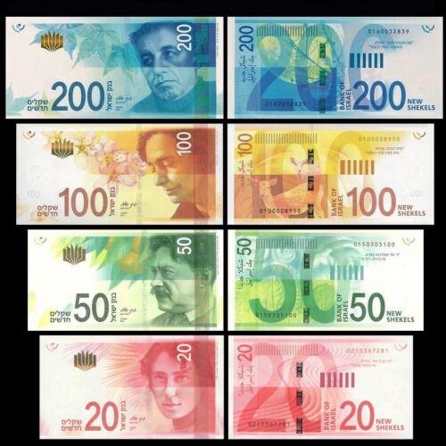 Full set of Israel bank notes, nice!