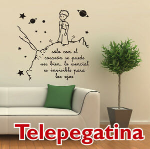 Vinilo decorativo para pared el principito xl 90x90 for Pegatinas frases pared