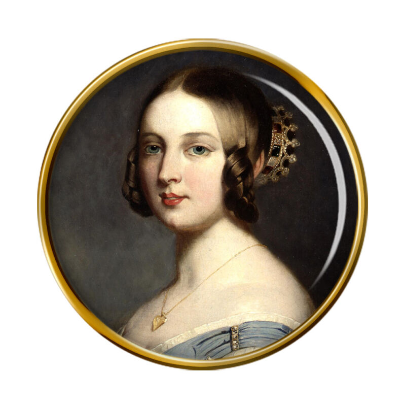 Young Queen Victoria Pin Badge