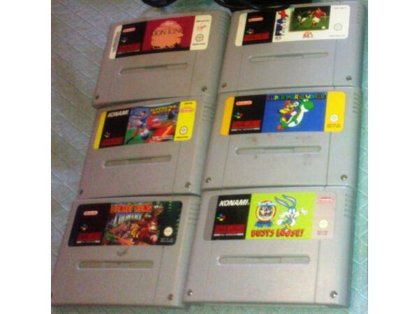 6 SNES games cartridges County Armagh Picture 1