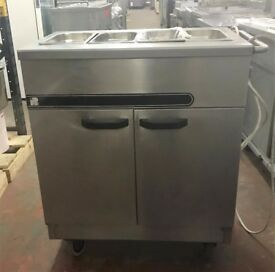 2 DOOR HOT CUPBOARD / BAIN MARIE ON CASTORS DRY EU281 (supper sale)