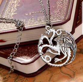 Mens or Ladies Game Of Thrones Daenerys Targaryen Dragon Necklace, perfect Christmas present