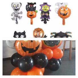Halloween balloons, Halloween decoration, Halloween balloon columns, standing stack, display, setup