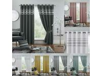 Thermal Blackout Ready Made Eyelet Top Curtains