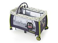 Cosatto Moon 'little monster' Unit Travel Cot/Playpen - sturdy/wheels