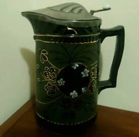 Antique Jackfield pottery jug