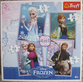 Disney 'Frozen Jigsaws, DVD, clothes and Storybook pillow. 50p - £2 each