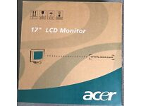 "17"" LCD ACER monitor excellent condition"
