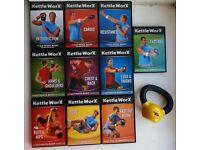 KettleWorX Exercise Set Inc 5lb Kettlebell & 10 DVD's
