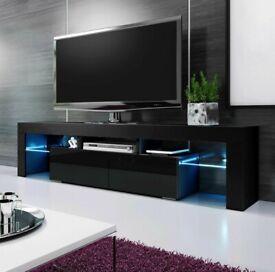 *BRAND NEW* RGB LED TV STAND 160CM - BLACK