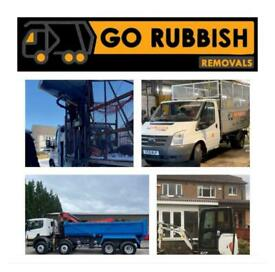 GO RUBBISH REMOVALS Glasgow-Paisley- Dumbarton -trade- grabber- waste-junk-house clearance-no skip