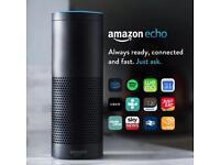 Amazon Echo, Black - New/Unused/Unopened Speaker With Alexa Voice Control