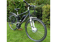 "Indigo Verso 3 Hybrid Stealth Mens Electric Bike (Front Hub Drive) - 17.5"" frame"