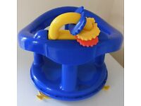Baby bath seat blue £5 collection from Shepshed.