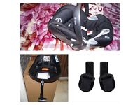 Cybex Aton Q car seat+isofix base+ adapters for pushchair