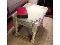 shabby chic country style solid pine coffee table