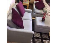 3 piece suit (2 seater sofa, Arm chair and footstool) Bed sofa in good condition