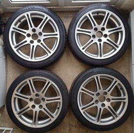 Honda Civic EP3 Type R 2001-06 Original Alloy Wheels w/ Hankook Tyres 205 45 17