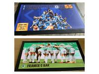Personalised football bar mats 44cm x 25 cm approx. Club with name of your choice dm for details