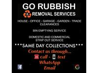 ♻️SAME DAY✅GO RUBBISH & REMOVALS🚚house Clearance-office-junk-bin-waste collection-skip alternative