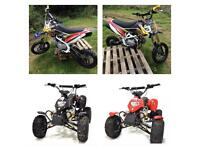 Pit Bike Pitbike Quad Kids 50cc 125cc Quad Bike crf 110 70