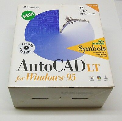 Pc Autodesk Autocad Lt Windows 95 Cd Full Retail Set Complete Tested Fast Ship