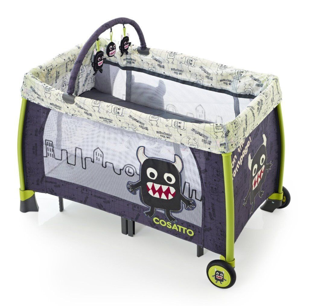 The Cosatto Moon' Little Monster' Unit Travel Cot/Playpen - great for nap times and travelling