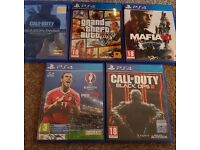 Ps4 slim with 5 games all boxed with warranty