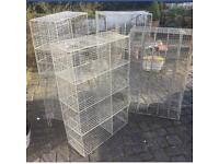 Vintage wire mesh gym lockers 1960's. Various size compartments. £120 each.