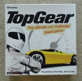TOP GEAR THE ULTIMATE CAR CHALLENGE BOARD GAME - IN AS NEW CONDITION