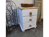 Solid Pine Chunky Painted Small Chest Drawers