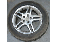 TOYOTA AVENSIS T REG 5 stud ALLOY WHEEL WITH TYRE