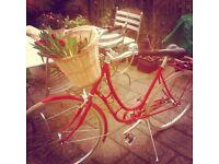 Vintage Style Viva Red Bike