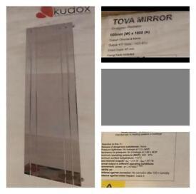 Tova mirror and chrome radiator
