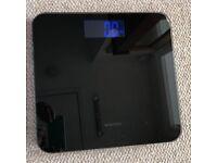 Black Salter Digital Glass Bathroom Scales