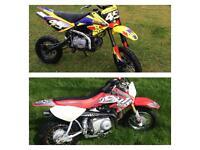WPB 140cc Crf 70 Size Pitbike Pit Bike & Honda Crf 50