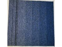 64 Carpet Tiles Atiom Blue 50 x 50 cm Brand New £96