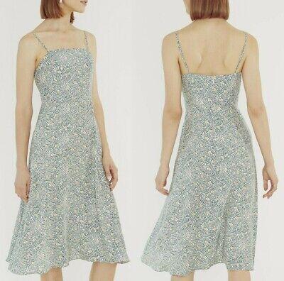 $545 HVN Nora Bias Cut Womens Sleeveless Silk Summer Dress in COCONUT Size 4