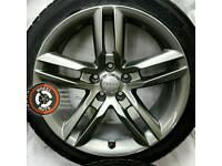 "18"" Genuine Audi A5/A4 alloys refurbished Gunmetal, Michelin tyres."