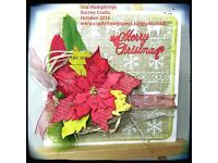Christmas card making class 5th November suitable for all levels