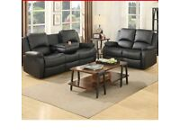 BAMBI 3+2 BRAND NEW RECLINER SOFA SET £475 BRAND NEW BOXED IN HIGH QUALITY BONDED LEATHER
