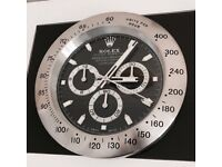 Rolex wall clock, Big metal clocks, Sweeping movement