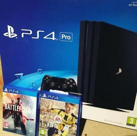 Brand new in opened ps4 pro 1tb with Fifa 18